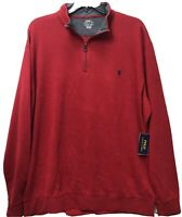 Polo Ralph Lauren 1/4 Zip Sweater Pullover Red Men's Medium NEW $89.50