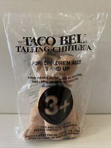 """1998 Taco Bell Chihuahua Plush Talking Dog """"!VIVA GORDITAS!"""" Applause NEW!"""