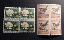 Bund 274 + 275 ** Naturschutz 4er-Blöcke postfrisch