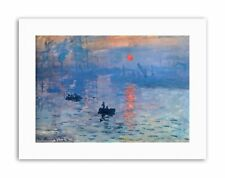 CLAUDE MONET IMPRESSION SUNRISE Poster Painting Old Master Canvas art Prints