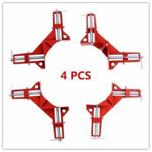 4Pcs 90° Presse d'angle Serre joint Dormant Soudure Menuiserie Collage Etau 75mm