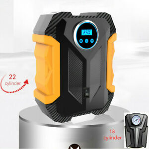 WOLFBOX Portable Air Compressor Pump,Digital Tire Inflator Auto Mini Air Pump for Car 150 PSI,DC 12V,Auto Shut Off,Preset tire pressure,LED Light Basketball and Other Inflatables Bicycle Motorcycle