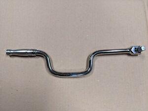 "Snap-on 1/2'' Drive 17"" Long Swivel Speed Breaker Bar Flex Head Chrome Wrench"