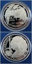 MONETA 10 € FS 2010 500° DELLA MORTE DI GIORGIONE COINS SILVER ITALY