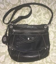 FOSSIL Black LEATHER LIBERTY Crossbody Leather Purse Bag-VERY NICE