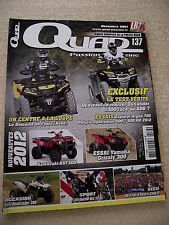 QUAD PASSION Magazine  n° 137 Essai EXPLORER ARGON 700. YAMAHA GRIZZLY 300