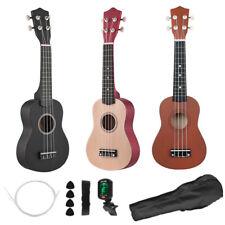More details for 21 inch soprano ukulele basswood for beginer with bag tuner strap string x5k5