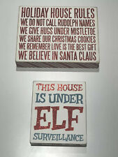 Primitives By Kathy 2 Wall Box Christmas Signs