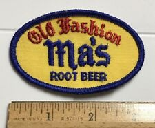 Old Fashion Ma's Root Beer Soda Pop Beverage Company Logo Embroidered Patch