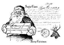 BÜGELBILD-Vintage-Shabby-Nostalgie-Weihnachten-Nikolaus-Santa-3334