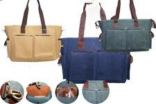 Men's or Women's Canvas Cross Body Shoulder Vintage Satchel Computer School Bag