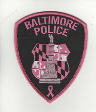 Baltimore Police Pink Cancer Awareness Patch