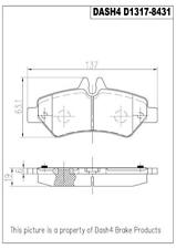 Disc Brake Pad Set-Ceramic Pads Rear Pronto PCD1317