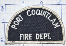CANADA, PORT COQUITLAM FIRE DEPT BRITISH COLUMBIA PATCH