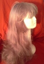 Fashion Long Wavy Light Purple / Violet Synthetic Wig  22 Inch Length