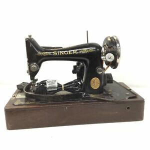 Vintage Singer Sewing Machine EB999819, Made in Great Britain #209