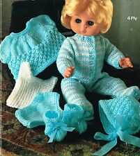 "Dolls clothes knitting pattern for 12"", 14"",16"",18"" doll. (V Doll 04)"