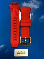 Original Technomarine red  strap band push button 45mm RARE