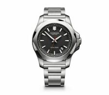 New Victorinox Pro Diver INOX Stainless Steel Black Dial Men's Watch 241723.1