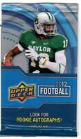 1-2012 UPPER DECK FOOTBALL AUTOGRAPH / R/C AUTOGRAPH HOT PACK 100% GUARANTEED