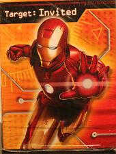 Hallmark comic book heroes birthday child greeting cards iron man party invitations birthday kids child superhero movie avengers boys new filmwisefo