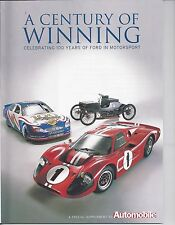 Ford Century of Winning A/FX Comet Drag Shelby GT40 LeMans Indy 500 Jim Clark 65