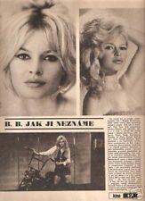 BRIGITTE BARDOT BB czech KINO Magazine 1970