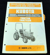 "ORIGINAL KUBOTA B9200 TRACTOR ""DUAL CLUTCH"" PARTS CATALOG MANUAL VERY NICE"