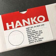 """HANKO Sandpaper 6"""" PSA Disk 1200 Grit 100 Pieces No Hole 34-3020-1200"""