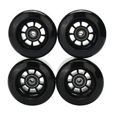 8044 80A PU 80mm Pro Longboard Wheels  Black Flywheels skateboard set of 4