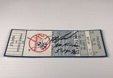 Dwight Doc Gooden Signed Ticket from No Hitter Game Yankee Stadium 5/14/1996