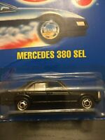 ⭐️EXTREMELY RARE WHEELS Hot Wheels Mercedes 380 SEL, #92, Black, Blue Card