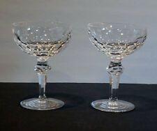 2 Waterford CURRAGHMORE *CHAMPAGNE SAUCERS /  SHERBET  GLASSES