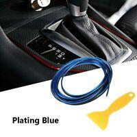 Blu 5M Fai da Te Auto Interno Decorazione Porta Adesivo Modanatura Styling