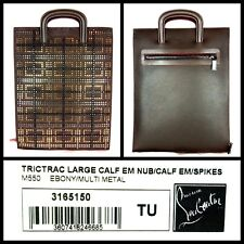 100% Authentic CHRISTIAN LOUBOUTIN Trictrac Large Portfolio Briefcase Spiked NWT