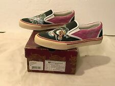 Christian Audigier Women's Size 8 Deck Slip-On Shoes Stragglers Panther Magenta