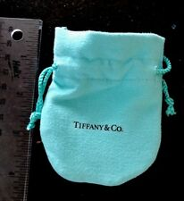 Authentic Tiffany & Co. Small Blue Suede Gift Pouch Bag Empty NEW