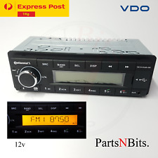 VDO CONTINENTAL TR7412UB-OR PORSCHE MERCEDES 12v RADIO *ORANGE DISPLAY BLUETOOTH