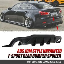 FOR 06-13 IS250/IS350 PAINTABLE PU JDM REAR DIFFUSER BUMPER LIP UNDER SPOILER