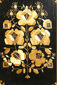 Vintage hand made wood floral collage wall decor plaque