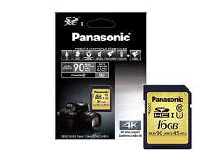 "Panasonic 16GB SDHC Speicherkarte Class 10 4K U3 "" Gold ""  Premium Qualität ****"