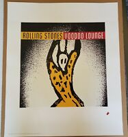Rolling Stones Voodoo Lounge Official Lithograph - 1994 Print  Poster Very Rare