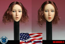 1/6 Female Head Sculpt Open Mouth with Tongue C For Phicen Female Figure ❶USA❶