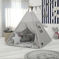 Elfique New Spielzelt  Tipi-Zelt Kinderzelt grau gestreift