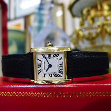 CARTIER TANK FRANCAISE 18k Yellow Solid Gold Ladies Watch Ref: 2385