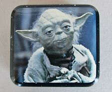 "YODA TIN CONTAINER 3"" x 3 1/2"" Metal Box Ltd. vintage 1980 Star Wars figure"
