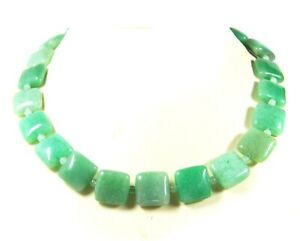 Gorgeous Necklace From Aventurine IN Square Shape With Spacer Beads