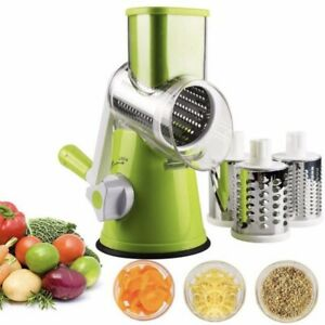 Stainless Steel Manual Rotary Cheese Grater Veg Food Chopper Green