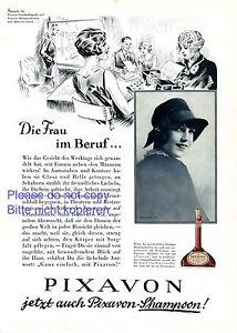 Shampoo Pixavon Germany german ad 1929 woman in a job sectretary advertising