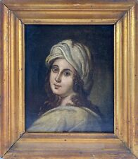 Ölbild Portrait Kopf Frau 19. Jahrhundert Altmeisterlich Antik Goldrahmen